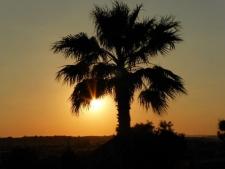 Zonsondergang bij quinta Alfarrobeira