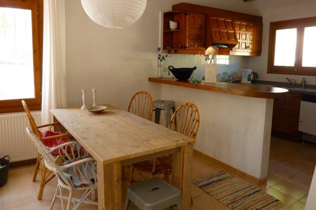 Salon met open keuken