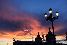 Avondlucht bij de Kathedraal, Madrid