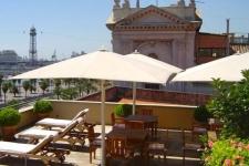 Dakterras Hotel aan de Port Vell Barcelona