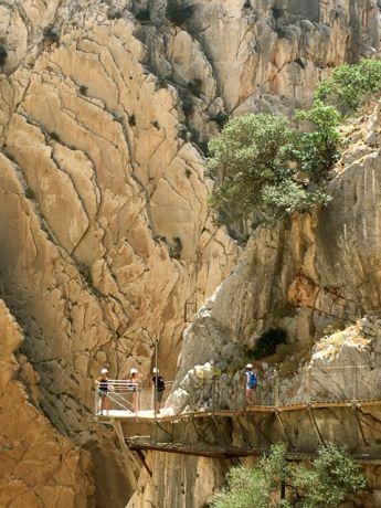 De Caminito del Rey bij Ardales, op een uur rijden van Ronda
