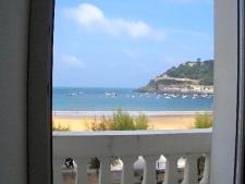Uitzicht vanuit het hotel aan de baai van Donostia