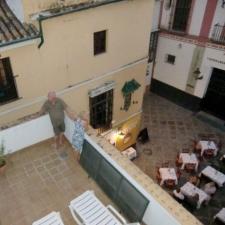 Vanaf terras in Sevilla