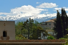 Granada - Sierra Nevada vanaf Alhambra