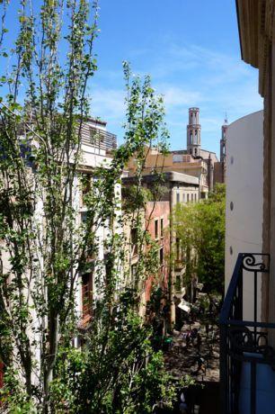 Uitzicht vanuit het appartement in El Born