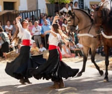 Feria in een van de dorpen